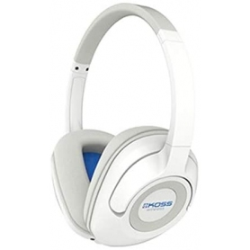 Koss Wireless Bluetooth Over-Ear Headphones (3.5 mm Jack) for iMac/iPhone/iPad/iPod/Laptop/MP3 Players/Samsung/Smartphones - White