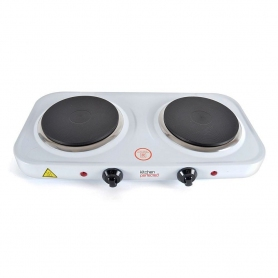 Lloytron Kitchen Perfected Double Hotplate - White