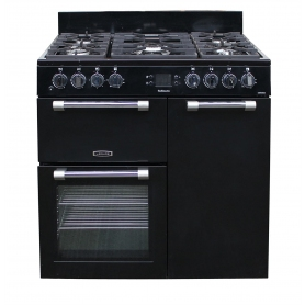 Leisure Cookmaster 90cm Dual Fuel Range Cooker - Black