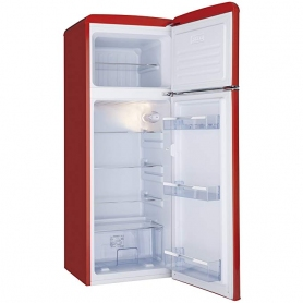 Amica 55cm 70/30 Retro Styled Fridge Freezer - Red