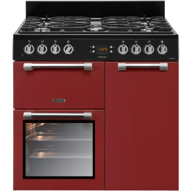 Leisure Cookmaster 90cm Dual Fuel Range Cooker - Red