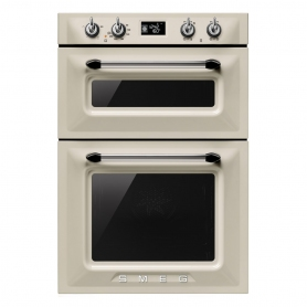 Smeg Victoria Built In Double Oven - Cream