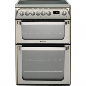 Hotpoint 60cm Double Oven Electric Cooker - Stainless Steel