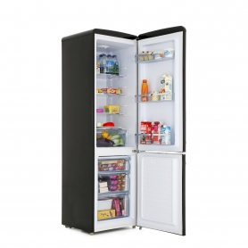 Amica 55cm Manual Defrost Retro Fridge Freezer - Black