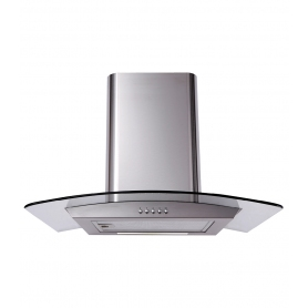 Matrix Curved Glass 60cm Chimney Cooker Hood - Stainless Steel