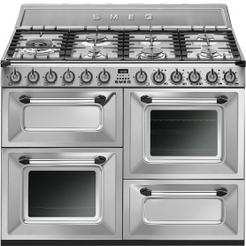 Smeg Victoria 110cm Dual Fuel Range Cooker - Stainless Steel