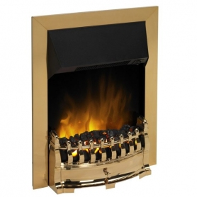 Dimplex Stamford Stm20 Optiflame Electric Fire Brass Or Chrome