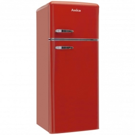Amica 55cm 70/30 Retro Styled Fridge Freezer - Red - 1