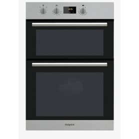 Hotpoint Built In Double Oven - Stainless Steel