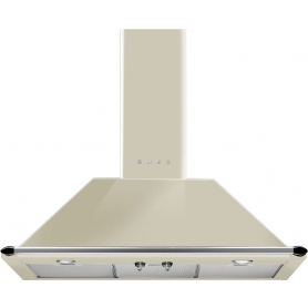 Smeg Victoria 90cm Chimney Cooker Hood - Cream